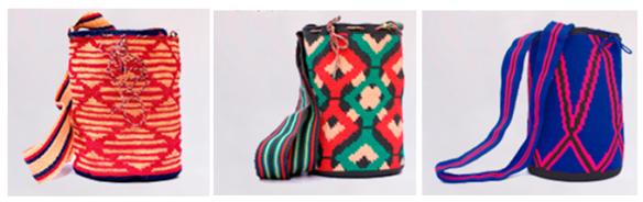 artesanas indígenas mochilas