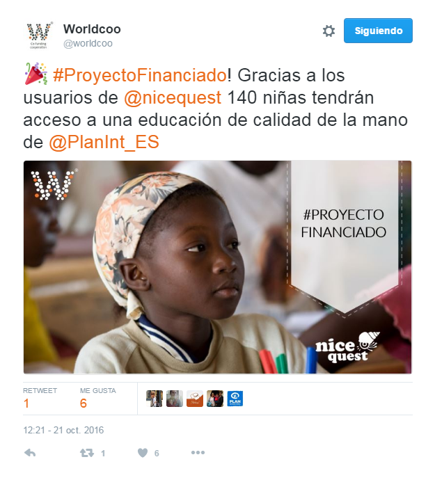 Plan internacional y nicequest